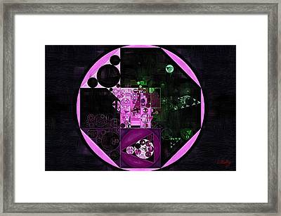 Abstract Painting - Lavender Magenta Framed Print