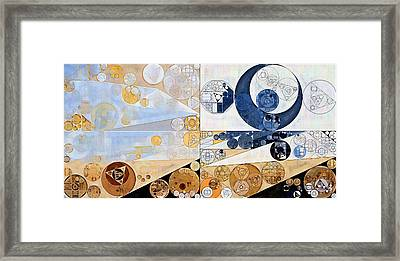 Abstract Painting - Light Gray Framed Print