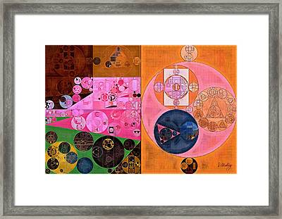 Abstract Painting - Light Thulian Pink Framed Print by Vitaliy Gladkiy
