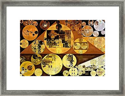 Framed Print featuring the digital art Abstract Painting - Mai Tai by Vitaliy Gladkiy