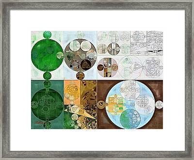 Abstract Painting - Malachite Green Framed Print by Vitaliy Gladkiy