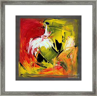 Abstract Painting Framed Print by Mario Zampedroni