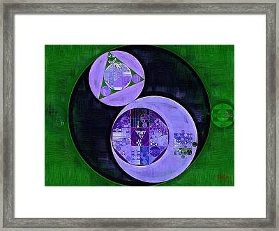 Abstract Painting - Medium Purple Framed Print