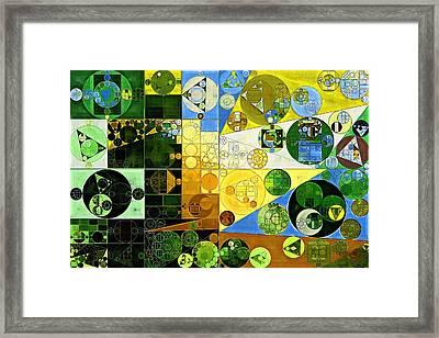 Abstract Painting - Medium Spring Bud Framed Print by Vitaliy Gladkiy