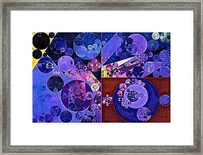 Abstract Painting - Midnight Blue Framed Print