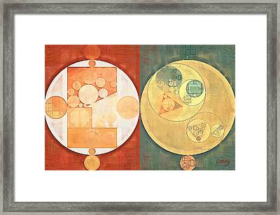 Abstract Painting - Milk Punch Framed Print by Vitaliy Gladkiy