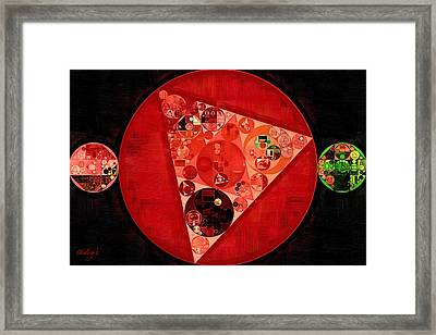 Abstract Painting - Mordant Red Round Framed Print by Vitaliy Gladkiy