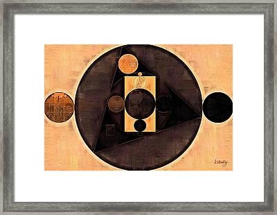 Abstract Painting - Morocco Brown Framed Print by Vitaliy Gladkiy