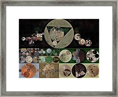 Abstract Painting - Neutral Green Framed Print