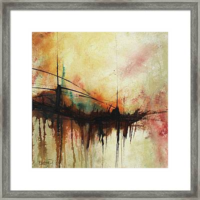 Abstract Painting Contemporary Art Framed Print