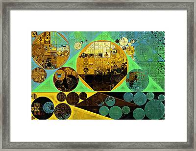 Framed Print featuring the digital art Abstract Painting - Ocean Green by Vitaliy Gladkiy