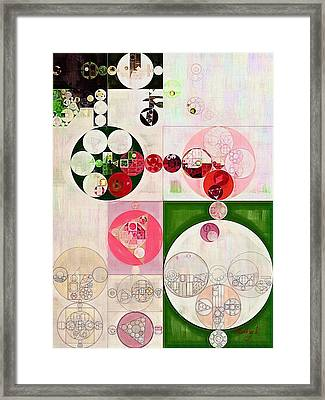 Abstract Painting - Old Rose Framed Print by Vitaliy Gladkiy