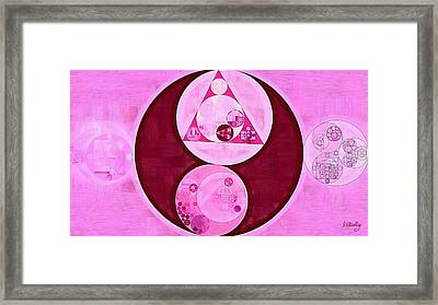 Abstract Painting - Orchid Framed Print