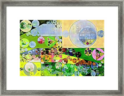 Abstract Painting - Orinoco Framed Print