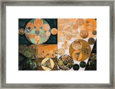 Abstract Painting - Pale Gold Framed Print