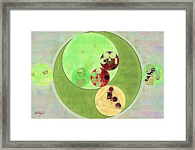 Abstract Painting - Pale Leaf Framed Print by Vitaliy Gladkiy