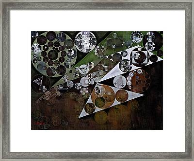 Abstract Painting - Panda Framed Print