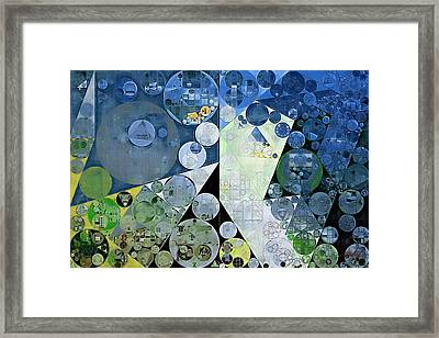 Abstract Painting - Paris White Framed Print