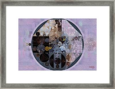 Framed Print featuring the digital art Abstract Painting - Pastel Purple by Vitaliy Gladkiy