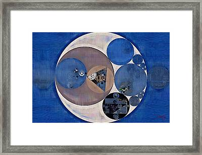 Abstract Painting - Payne Grey Framed Print
