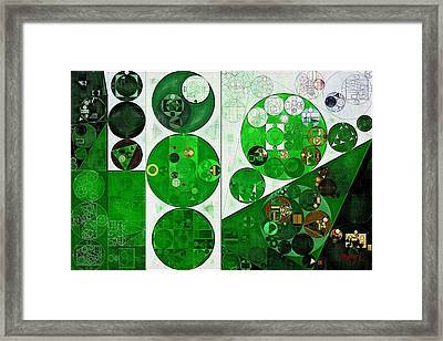 Abstract Painting - Peppermint Framed Print by Vitaliy Gladkiy
