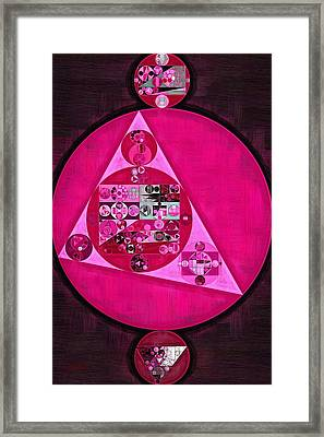 Abstract Painting - Persian Pink Framed Print