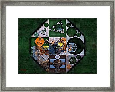 Abstract Painting - Pine Cone Framed Print