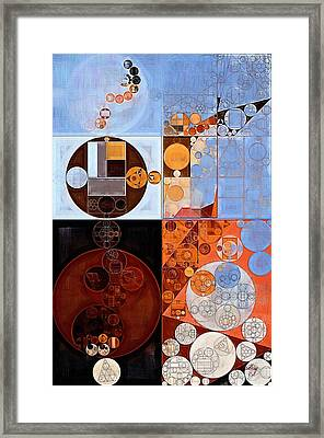 Abstract Painting - Polo Blue Framed Print