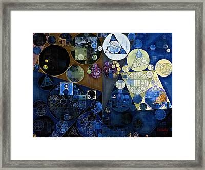 Abstract Painting - Port Gore Framed Print by Vitaliy Gladkiy