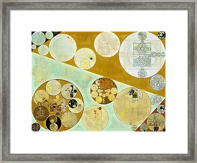 Abstract Painting - Reef Gold Framed Print