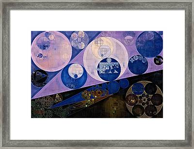 Abstract Painting - Resolution Blue Framed Print