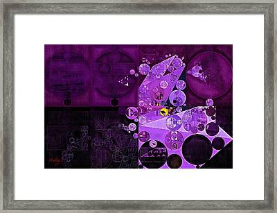 Abstract Painting - Rich Lilac Framed Print