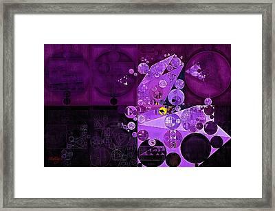 Abstract Painting - Rich Lilac Framed Print by Vitaliy Gladkiy