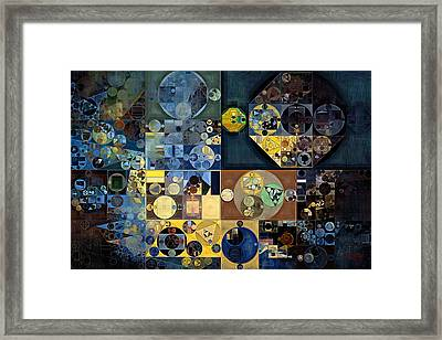 Abstract Painting - River Bed Framed Print by Vitaliy Gladkiy