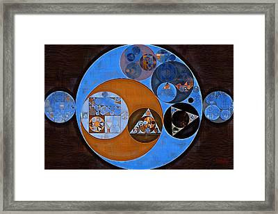 Abstract Painting - Rock Blue Framed Print