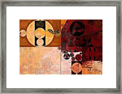 Abstract Painting - Rock Spray Framed Print