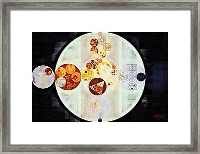 Abstract Painting - Ruddy Brown Framed Print by Vitaliy Gladkiy