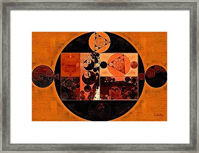 Abstract Painting - Rust Framed Print
