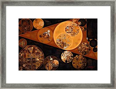 Abstract Painting - Saddle Brown Framed Print by Vitaliy Gladkiy