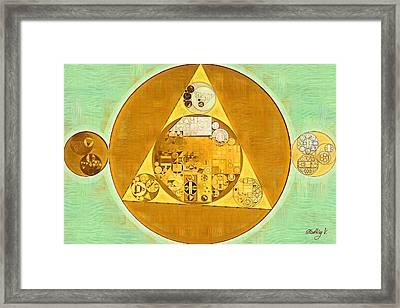 Abstract Painting - Saffron Framed Print by Vitaliy Gladkiy
