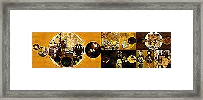 Abstract Painting - Sahara Framed Print