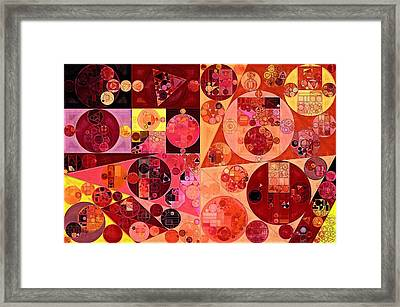 Abstract Painting - Salmon Framed Print