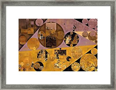 Abstract Painting - Sante Fe Framed Print