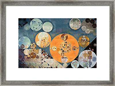 Abstract Painting - Shuttle Grey Framed Print