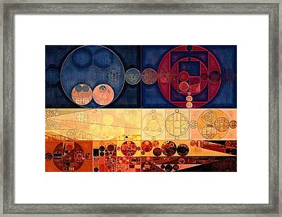 Abstract Painting - Sienna Framed Print