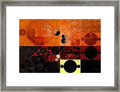 Abstract Painting - Sinopia Framed Print