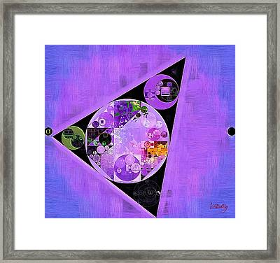 Framed Print featuring the digital art Abstract Painting - Slate Blue by Vitaliy Gladkiy