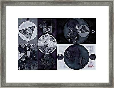 Abstract Painting - Smoky Framed Print by Vitaliy Gladkiy