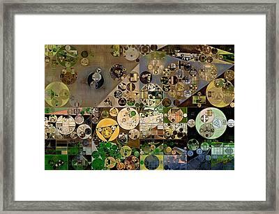 Abstract Painting - Soya Bean Framed Print by Vitaliy Gladkiy