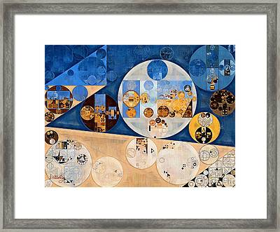 Abstract Painting - Stark White Framed Print by Vitaliy Gladkiy